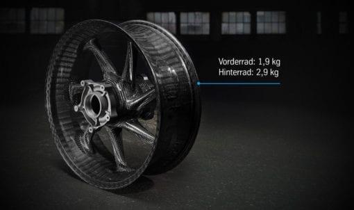 Gewichte der Räder