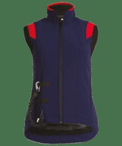 airshell-reiterweste blau-rot